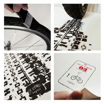 另類畫畫方法 用單車車胎紋畫畫!