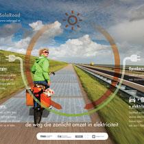 荷蘭首創:太陽能板單車徑