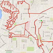 神級!用 GPS 畫畫的 Strava Art