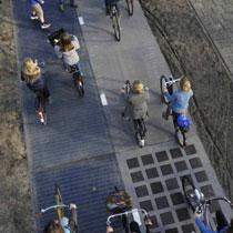 70 米荷蘭太陽能單車徑 產電夠一人家庭用一年